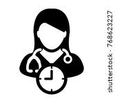 doctor appointment icon vector... | Shutterstock .eps vector #768623227