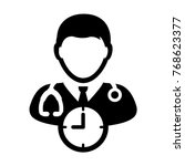 doctor appointment icon vector... | Shutterstock .eps vector #768623377