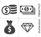 money icon vector | Shutterstock .eps vector #768647413