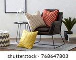 interior design detail luxury... | Shutterstock . vector #768647803
