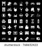 travel icons set | Shutterstock .eps vector #768652423