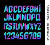 3d font in colorful pink and... | Shutterstock . vector #768655597