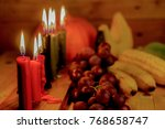 kwanzaa holiday concept with... | Shutterstock . vector #768658747
