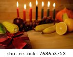 kwanzaa holiday concept with... | Shutterstock . vector #768658753