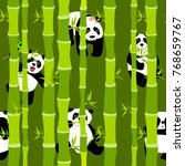 cute and funny pandas in the... | Shutterstock . vector #768659767