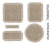 burlap. vector organic weave ... | Shutterstock .eps vector #768660703