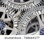macro photo of tooth wheel...   Shutterstock . vector #768664177