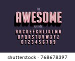 vector of stylized bold font... | Shutterstock .eps vector #768678397