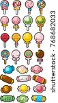 a collection of various candy... | Shutterstock .eps vector #768682033