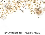 minimal christmas composition.... | Shutterstock . vector #768697537