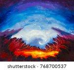 abstract crater  volcano ... | Shutterstock . vector #768700537