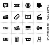 cinema icons. vector collection ...