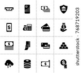 banking icons. vector... | Shutterstock .eps vector #768719203