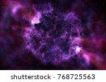 creative purple polygonal space ... | Shutterstock . vector #768725563