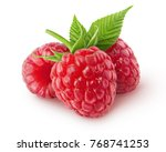isolated berries. three... | Shutterstock . vector #768741253
