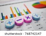 math symbols charts graphs... | Shutterstock . vector #768742147