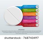 infographics for medicine. pill ... | Shutterstock .eps vector #768743497