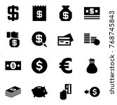 origami style icon set   dollar ... | Shutterstock .eps vector #768745843