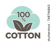 cotton labels or logo for pure... | Shutterstock .eps vector #768746863