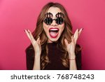 close up portrait of a happy... | Shutterstock . vector #768748243