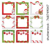 set of christmas border and... | Shutterstock .eps vector #768749047