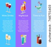 time for fun with wine drinks...   Shutterstock .eps vector #768751603