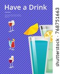 have a drink mojito and mint... | Shutterstock .eps vector #768751663