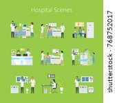hospital scenes and services... | Shutterstock .eps vector #768752017