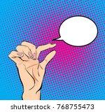 women's hand showing a small... | Shutterstock .eps vector #768755473