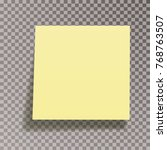 yellow sticky memo paper... | Shutterstock .eps vector #768763507