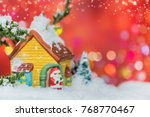 merry christmas and happy new... | Shutterstock . vector #768770467