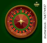 casino roulette wheel on dark...   Shutterstock . vector #768774937