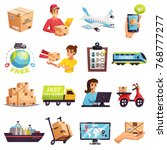 worldwide express delivery... | Shutterstock .eps vector #768777277