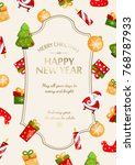 happy new year festive poster... | Shutterstock .eps vector #768787933