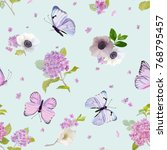 floral seamless pattern with... | Shutterstock .eps vector #768795457