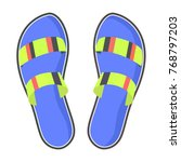 striped summer flip flops with...   Shutterstock . vector #768797203