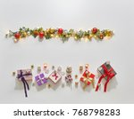Small photo of Christmas border ornaments new year writing style