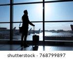 businessman standing in airport ... | Shutterstock . vector #768799897