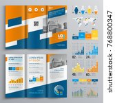 business brochure template... | Shutterstock .eps vector #768800347
