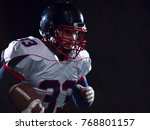 american football player... | Shutterstock . vector #768801157