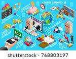 digital online banking process... | Shutterstock .eps vector #768803197