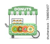donat street food cart.... | Shutterstock . vector #768805657