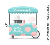 cotton candy street food cart.... | Shutterstock . vector #768805663