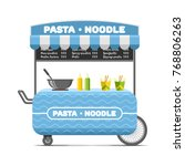 pasta and noodle street food... | Shutterstock . vector #768806263