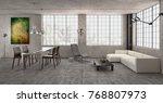 modern bright interiors 3d...   Shutterstock . vector #768807973