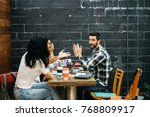 group of young promising... | Shutterstock . vector #768809917