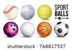 sport balls set vector.... | Shutterstock .eps vector #768817537