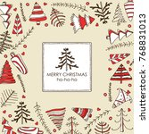 christmas and new year... | Shutterstock .eps vector #768831013