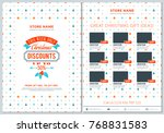 christmas sale catalog design.... | Shutterstock .eps vector #768831583