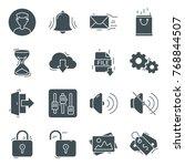 web ui icon silhouette vector